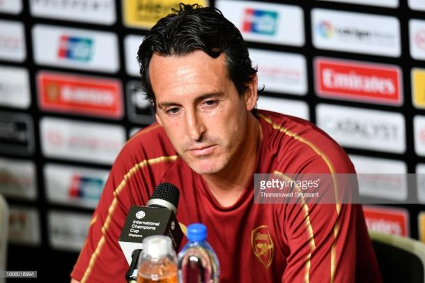 Emery en conferencia de prensa. Foto: Getty images.