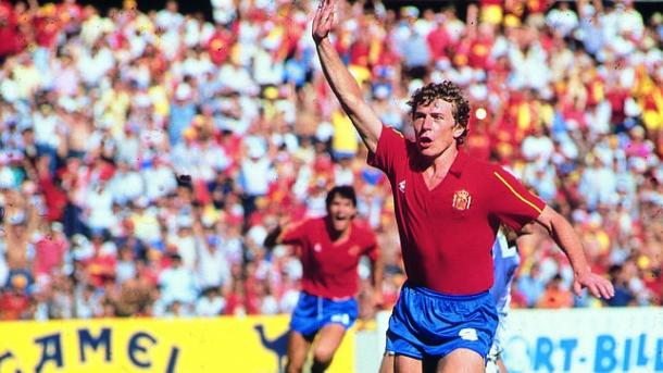 Emilio Butragueño celebrando un gol en México 1986   Foto: Getty
