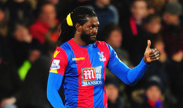 Adebayor will be the key man for Palace | Photo: Getty images