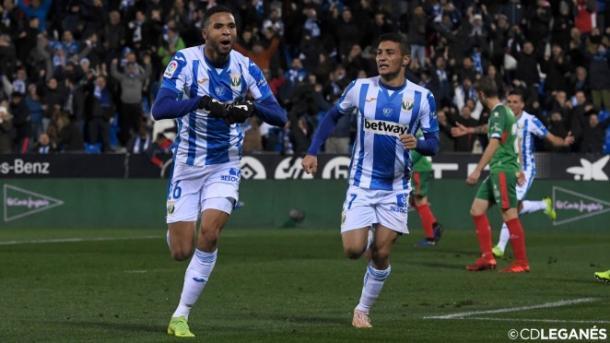 En Nesyri celebra un gol esta temporada frente al Alavés | Foto: cdleganés.com