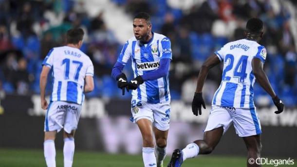 En-Nesyri celebra un gol anotado con el Leganés | Fotografía: C.D. Leganés
