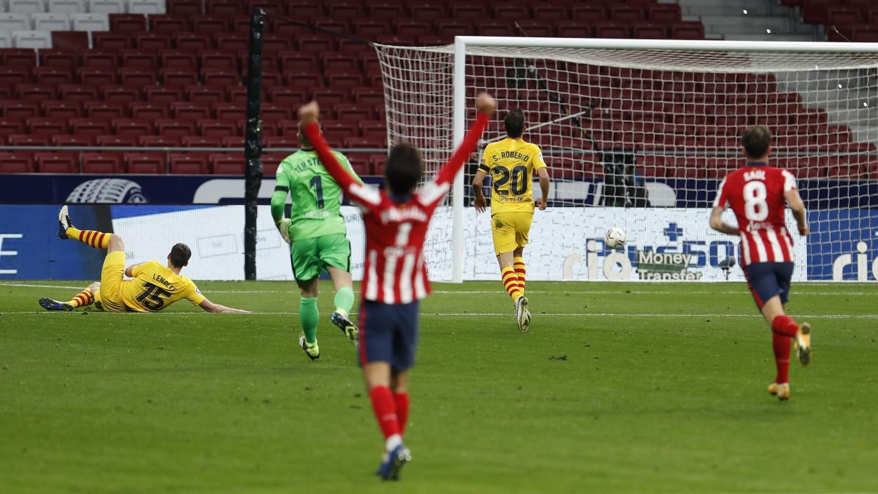 Imagen de la victoria frente al FC Barcelona.