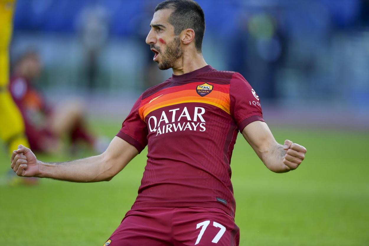Mkhitaryan chegou a seis gols em 11 jogos na temporada (Foto: Divulgação/AS Roma)