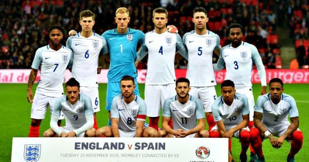Así vistió la selección inglesa en su amistoso ante España de hace un mes. Foto: The FA