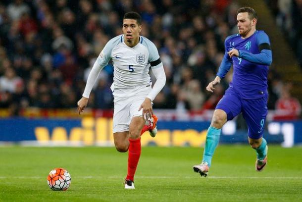 Smalling in action for England recently against Holland at Wembley | Photo: Getty Images