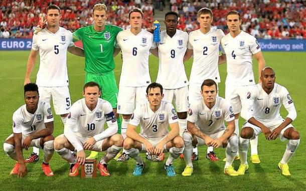 La Nazionale inglese. Fonte: AFP.