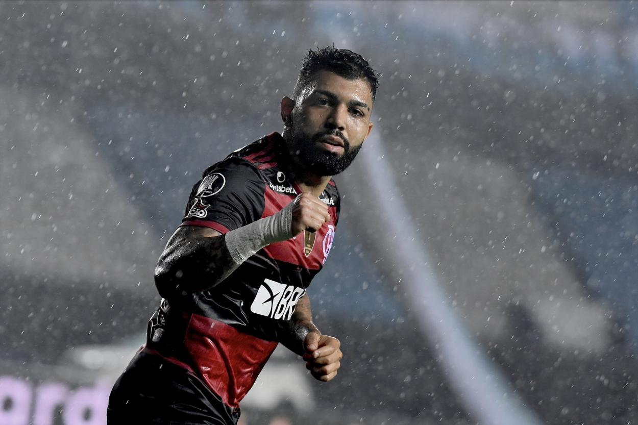 Gabigol agora tem 11 gols pelo Flamengo na Libertadores, atrás apenas de Zico, que tem 16 (Foto: Divulgação/Conmebol)