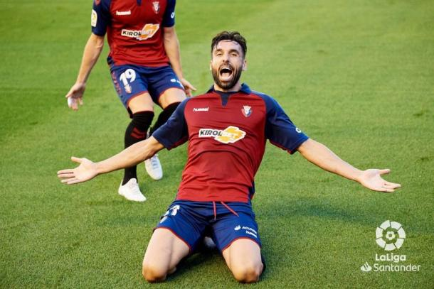 Enric Gallego celebrando un gol | Fuente: LaLiga Santander