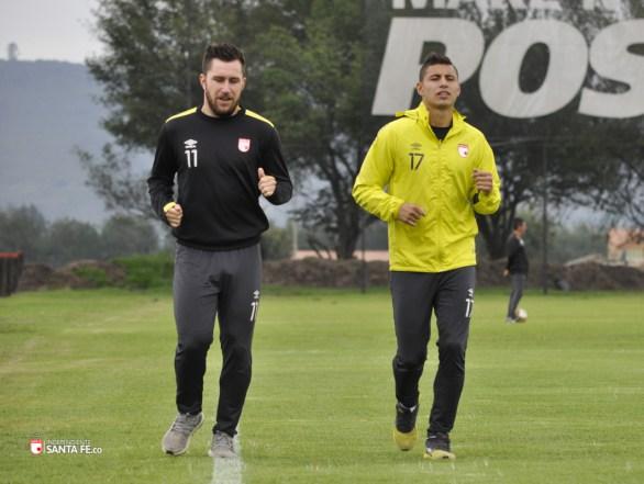 Juan Daniel Roa y Jonathan Gómez de Santafe Foto: IndependienteSantafe.co