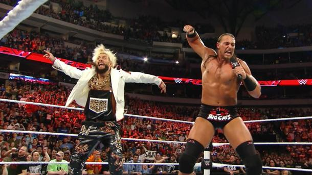 Enzo and Cass prior to a match on Monday Night Raw | Source: pwpnation.com