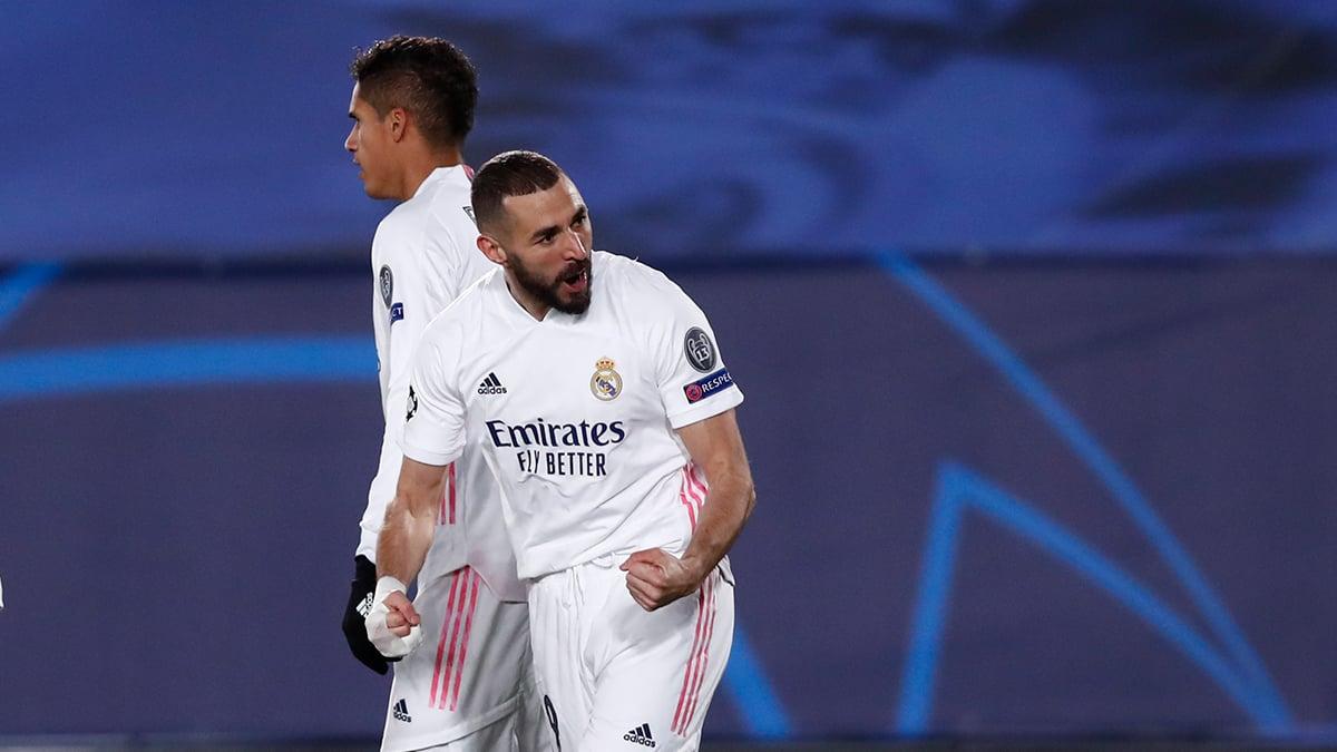 Benzema celebra el primer tanto del Real Madrid | Twitter Oficial del Real Madrid
