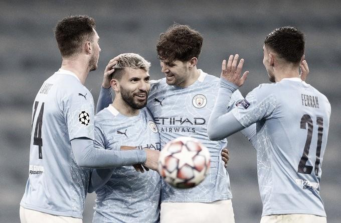 Aguero jugó y anotó. Foto: Man City.