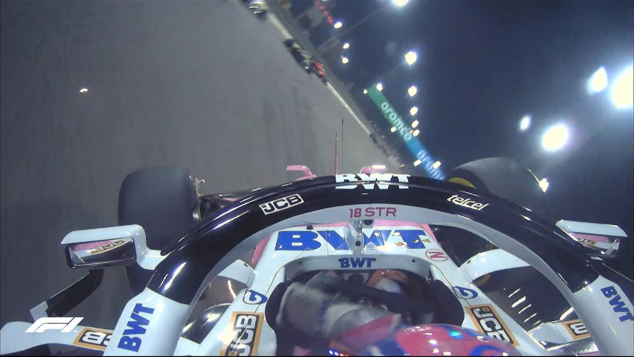 El vuelco de Stroll, visto desde la cámara a bordo. Fuente: F1