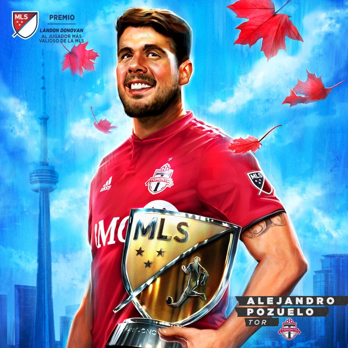 Dibujo de Pozuelo con el galardón (@MLS)