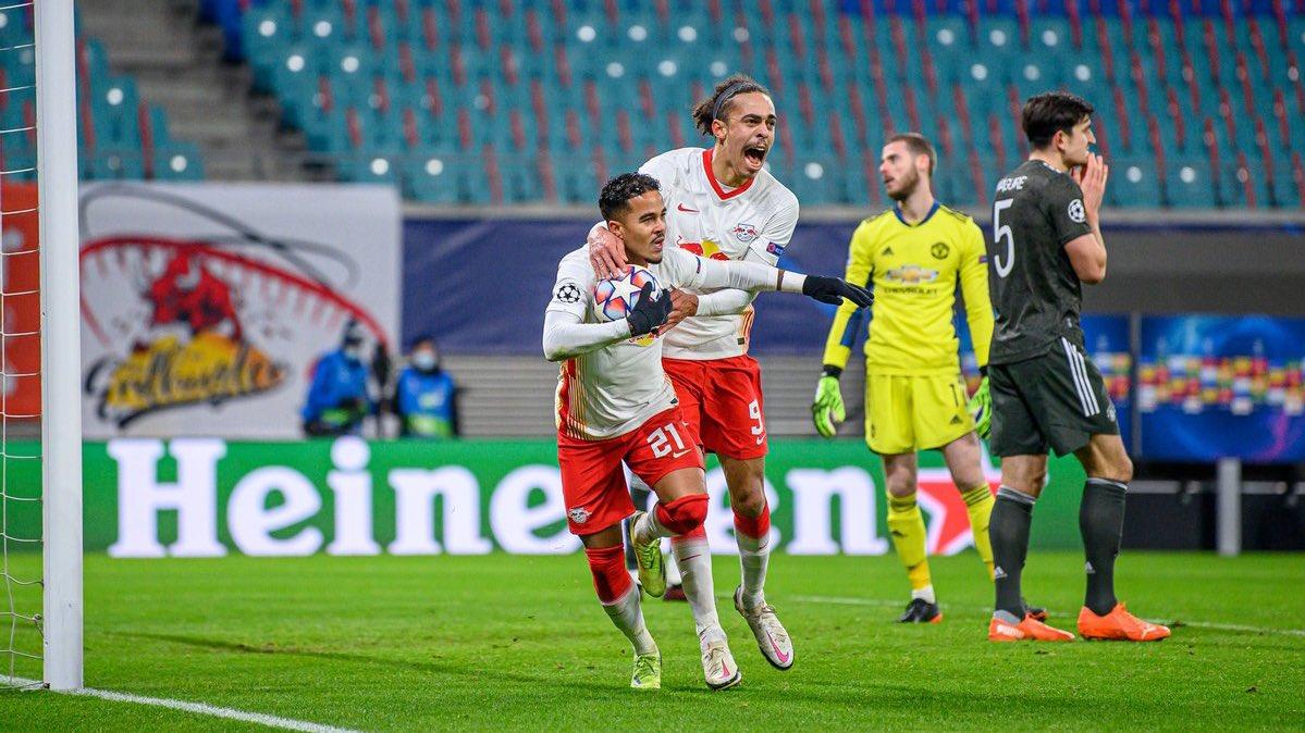 Kluivert fue el encargado de meter el tercero para el Leipzig. / Twitter: Die Rotten Bullen oficial