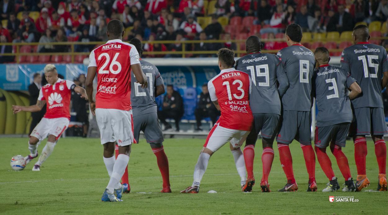 En marzo de 2018 Santa Fe se impuso ante América por 3-0. Imagen: Independiente Santa Fe