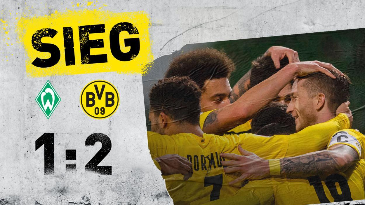 Final del encuentro entre el Werder Bremen y el Borussia Dortmund. / Twitter: Borussia Dortmund