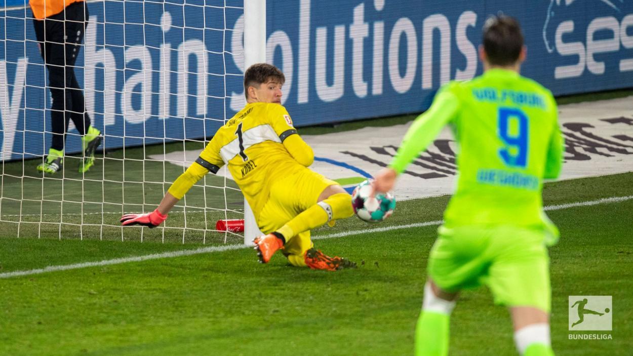 Imagen del único gol del encuentro. / Twitter: Bundesliga English oficial