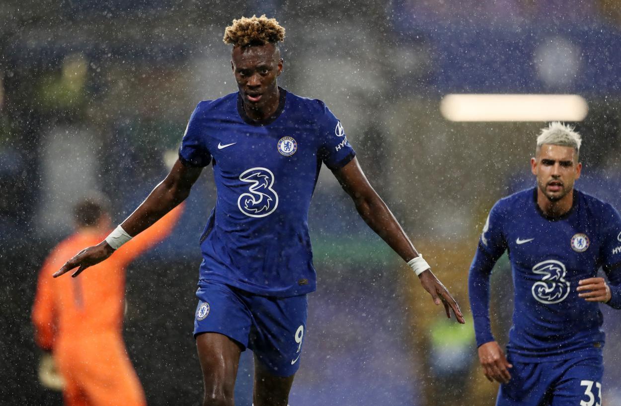 Abraham celebrando el 2-0 / FOTO: Chelsea FC