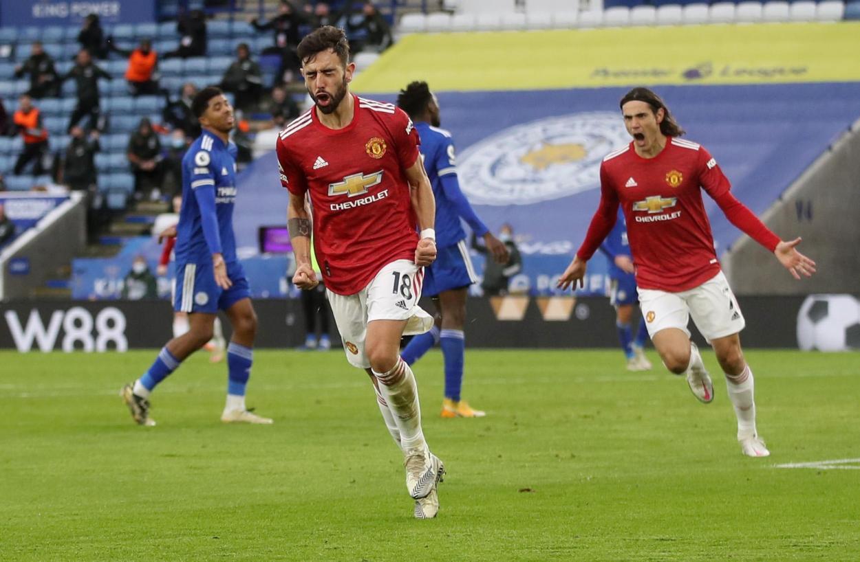 Bruno celebrando el 1-2 / FOTO: Premier League