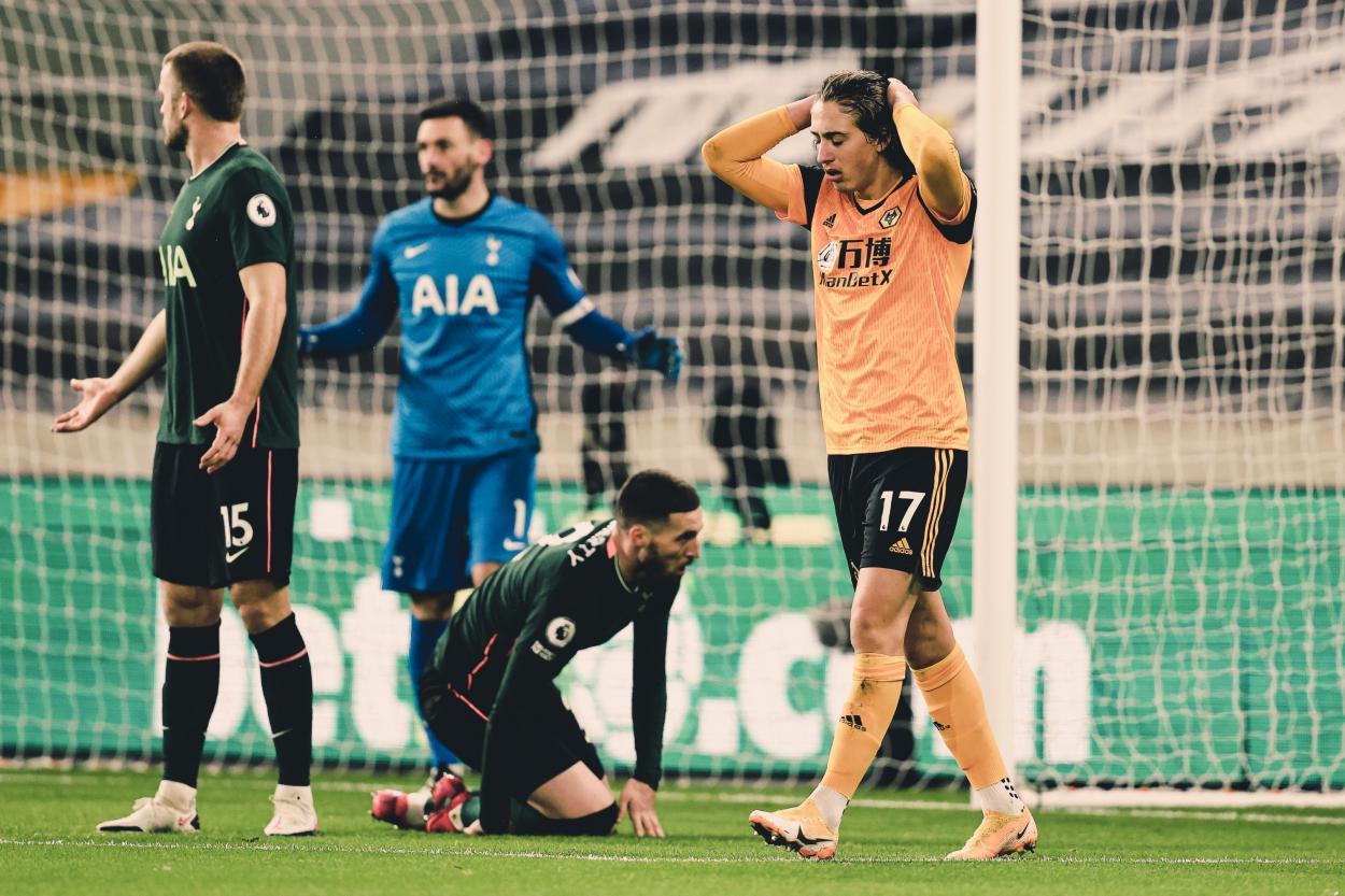 Fábio Silva no pudo cuajar un buen partido / Foto: Twitter @Wolves