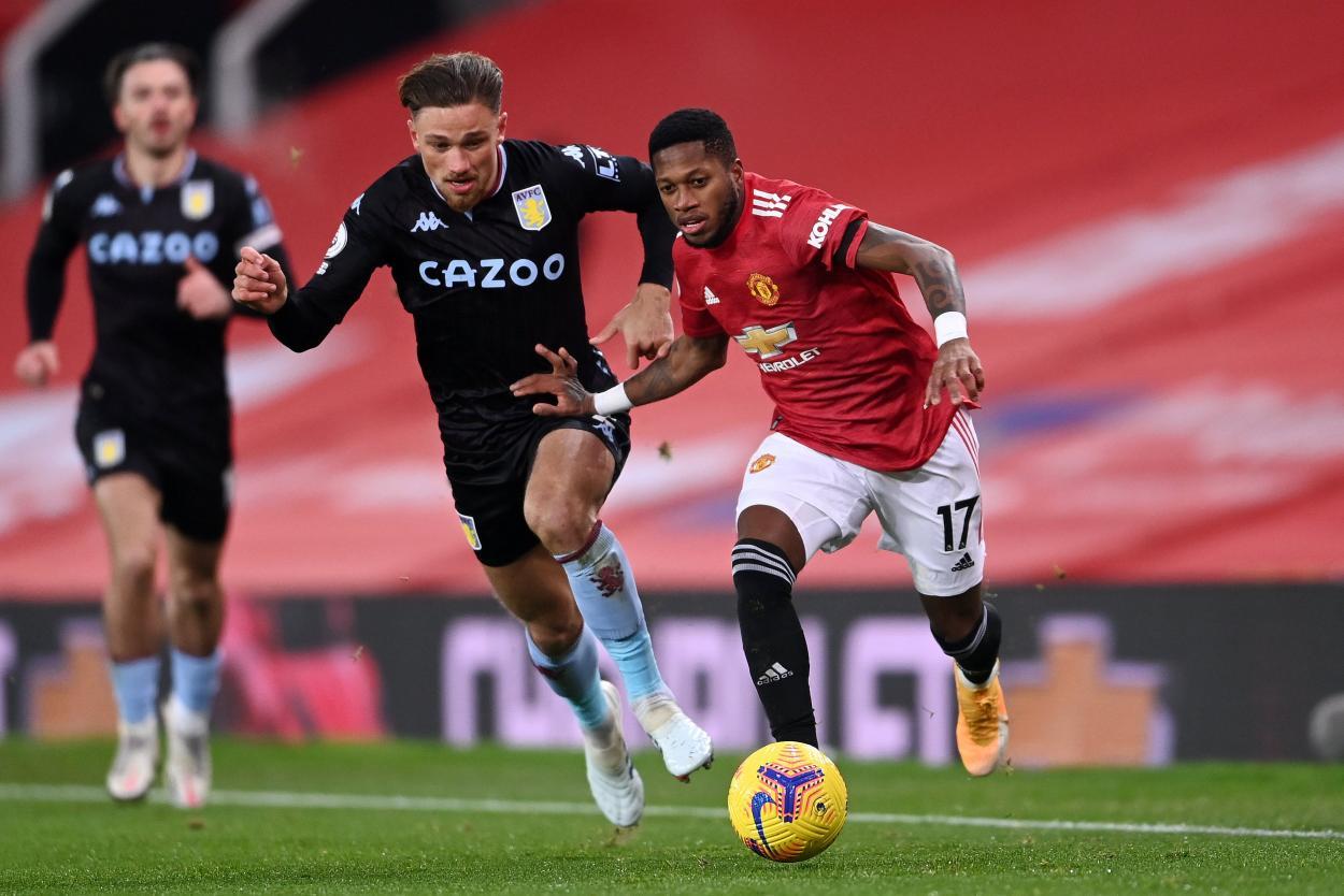 Grealish contra Fred / FOTO: Aston Villa