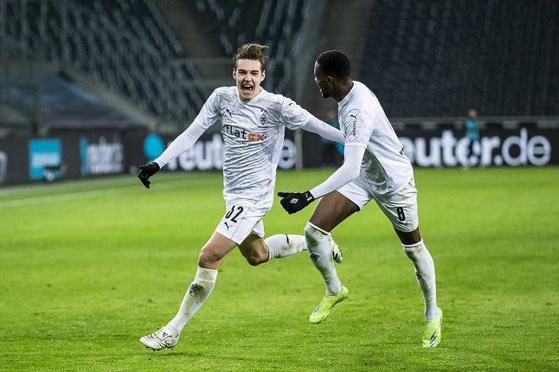 Florian Neuhaus, autor del gol del triunfo para los potros. / Twitter: Gladbach oficial