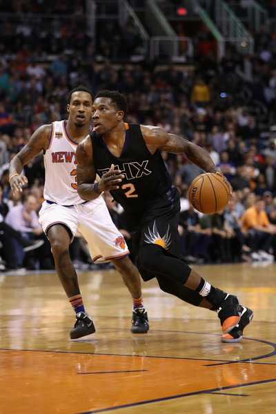 Eric Bledsoe #2 of the Phoenix Suns handles the ball during the NBA game against the New York Knicks. |Dec. 12, 2016 - Source: Christian Petersen/Getty Images North America|