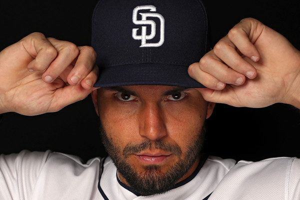 Eric Hosmer #30 of the San Diego Padres poses on photo day during MLB Spring Training at Peoria Sports Complex on February 21, 2018 in Peoria, Arizona. (Feb. 20, 2018 - Source: Patrick Smith/Getty Images North America)