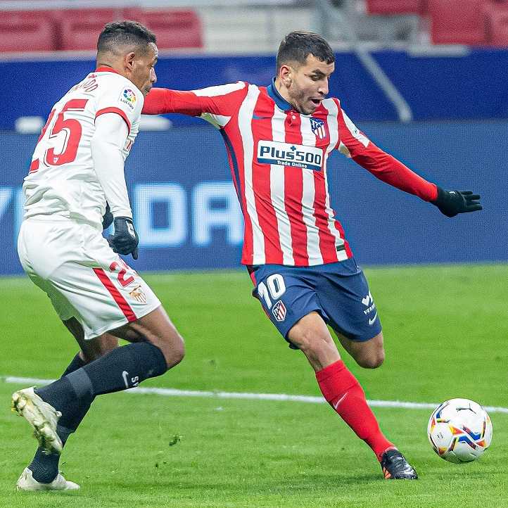 Ángel Correa, autor del primer gol del encuentro. / Twitter: LaLiga oficial