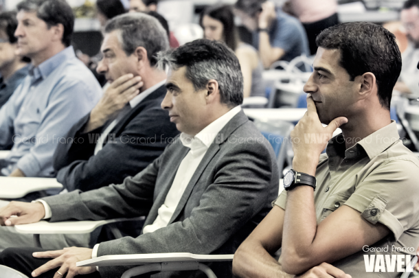 De izquierda a derecha: Urbano, Pep Segura, Albert Soler y Gerard López. Foto: Gerard Franco, VAVEL.com
