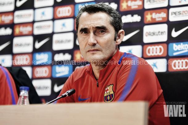 Ernesto Valverde en rueda de prensa | Foto: Beto Fotógrafo - VAVEL