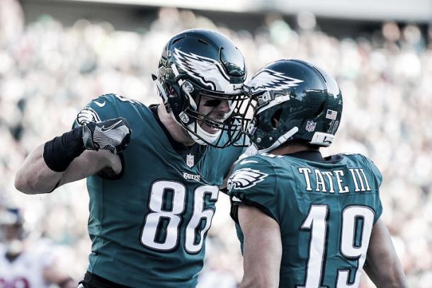 Ertz suma 111 recepciones en la campaña y entró en la historia de la NFL (Imagen: Eagles.com)