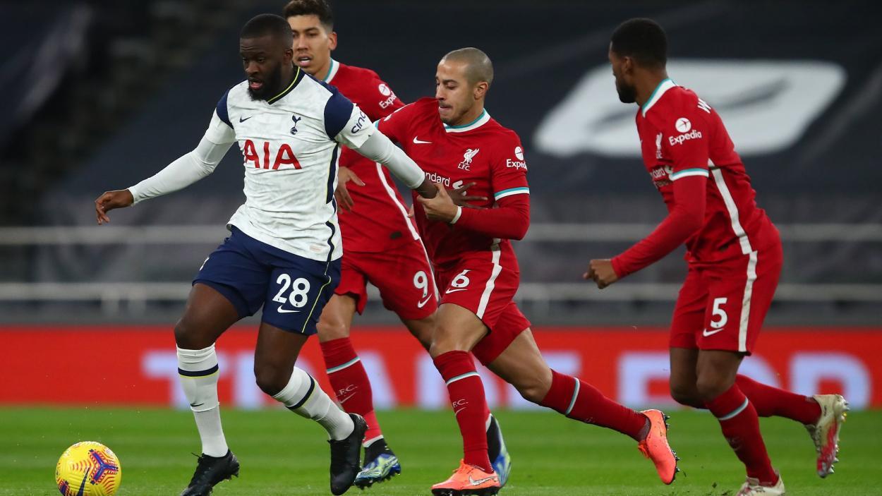 Ndombelé y Thiago, choque de estilos en medio campo / FOTO: Tottenham