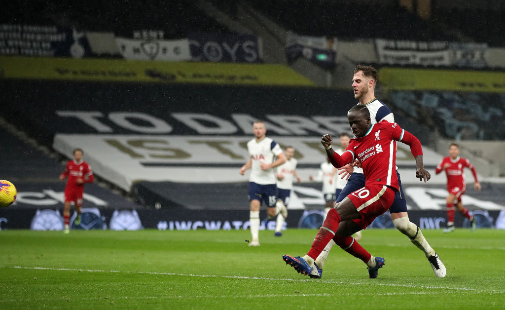 Mané en el momento del 1-3 / FOTO: Liverpool FC