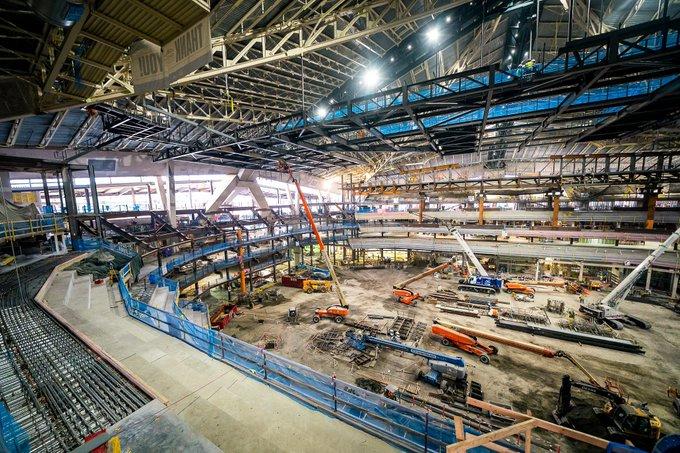 El interior del Climate Pledge Arena unas pocas semanas atrás / Kraken.com