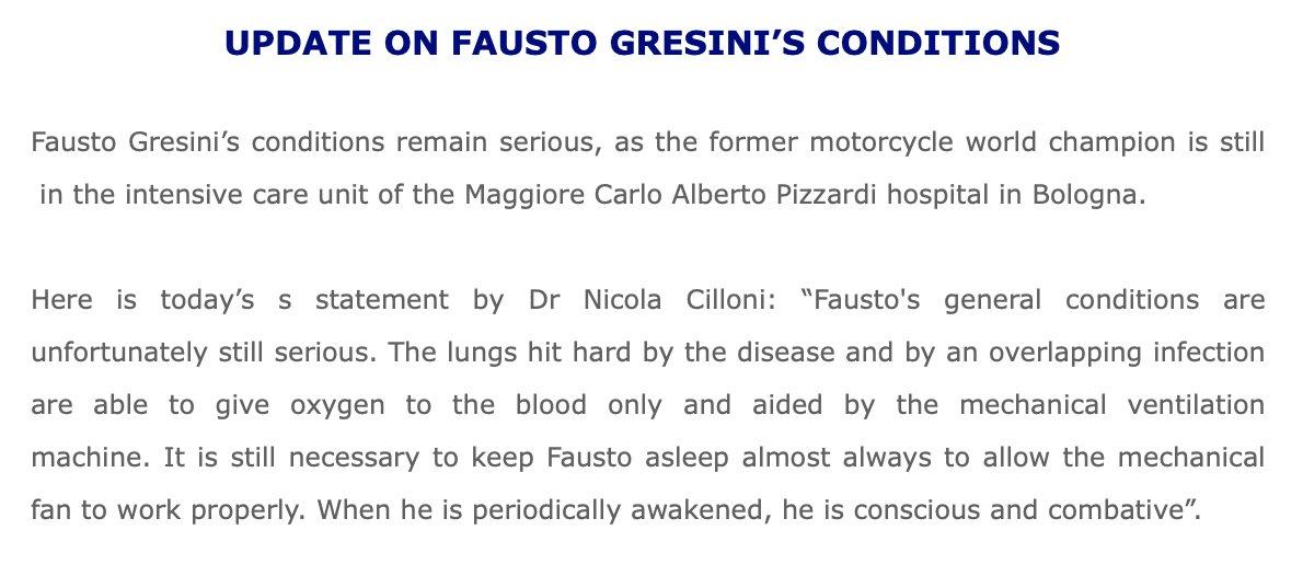 Página oficial de Twitter del equipo Fausto Gresini