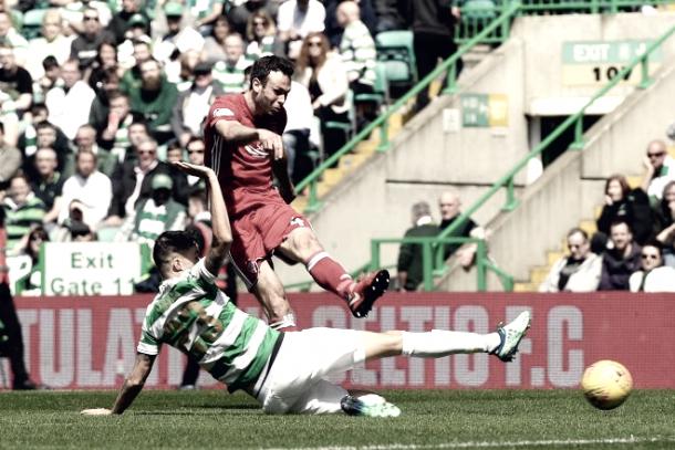Último partido del Aberdeen en el Scotish Premiership ante el Celtic. Foto: Aberdeen.