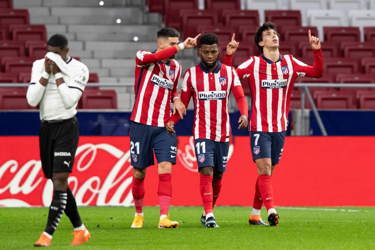 Joao Félix marcó el gol del empate./ Twitter: Atlético de Madrid oficial