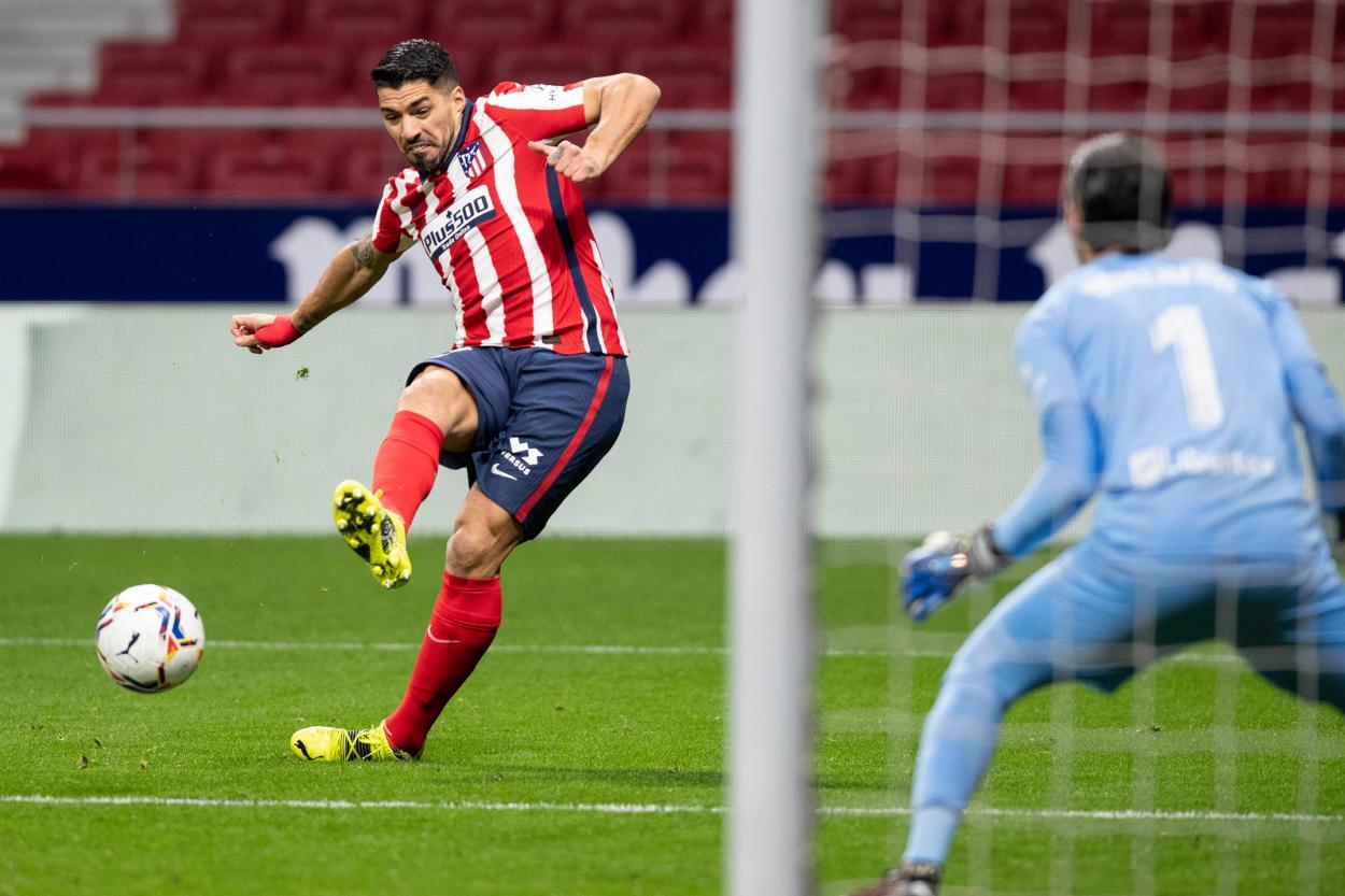 Luis Suárez, el encargado de poner el 2-1 del encuentro. / Twitter: Atlético de Madrid oficial
