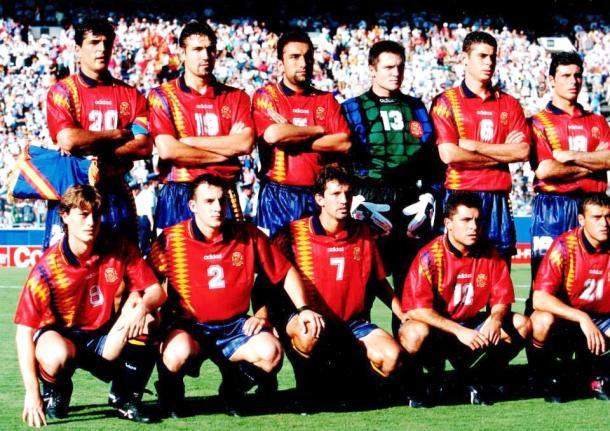 Alkorta con la Selección Española. Fuente: equiposdefutbol2.blogspot.com.es
