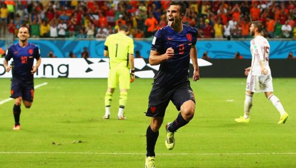 Robin Van Persie lideró la revancha tras la final perdida cuatro años antes. Fuente: FIFA.