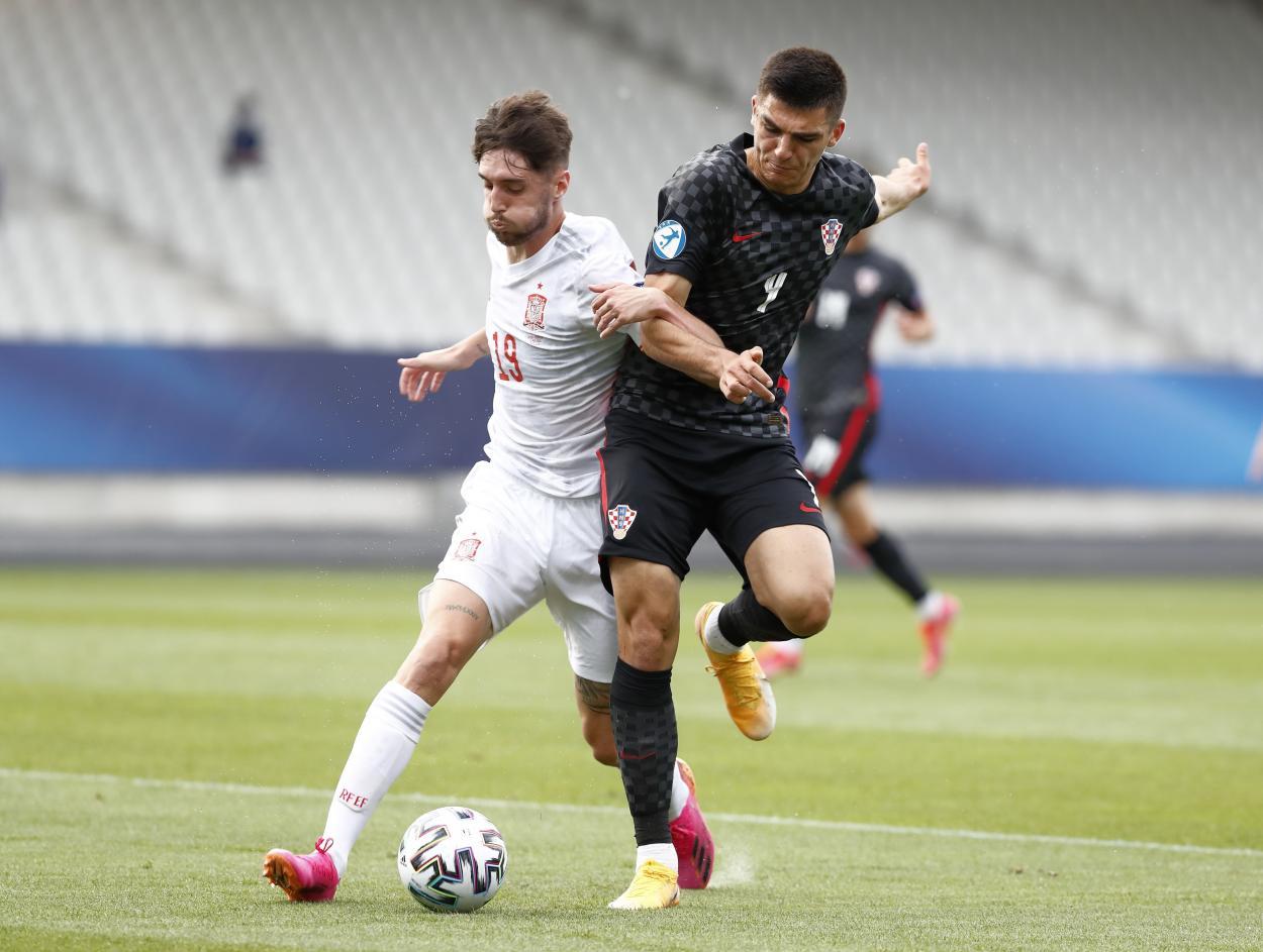 España sub 21 vs Croacia sub 21, Cuartos de final // Fuente: SEFUTBOL