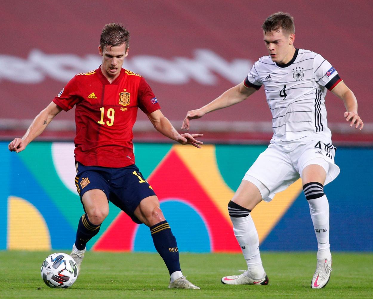 Imagen del partido entre España y Alemania. FUENTE: Bundesliga