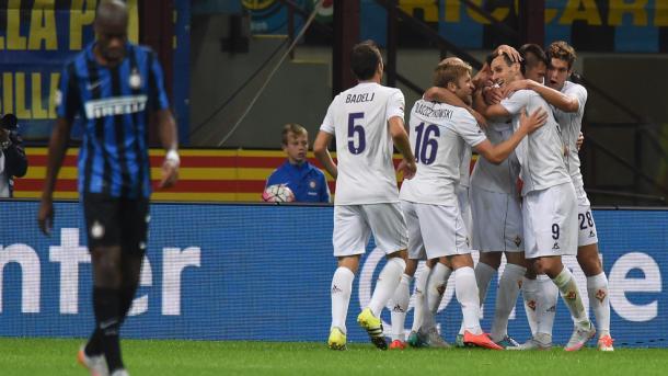 Goleada em Milão levou a Fiorentina a liderança da Serie A (Foto: Getty Images)
