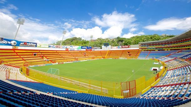 El Estadio Cuscatlán, en El Salvador.