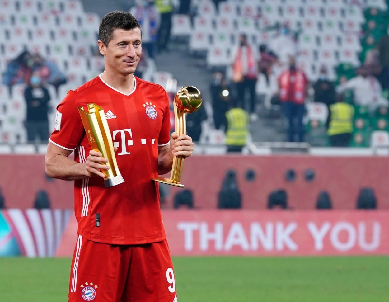 El polaco Robert Lewandowski, ganador del Balón de Oro Adidas. /Twitter: Bayern Múnich oficial