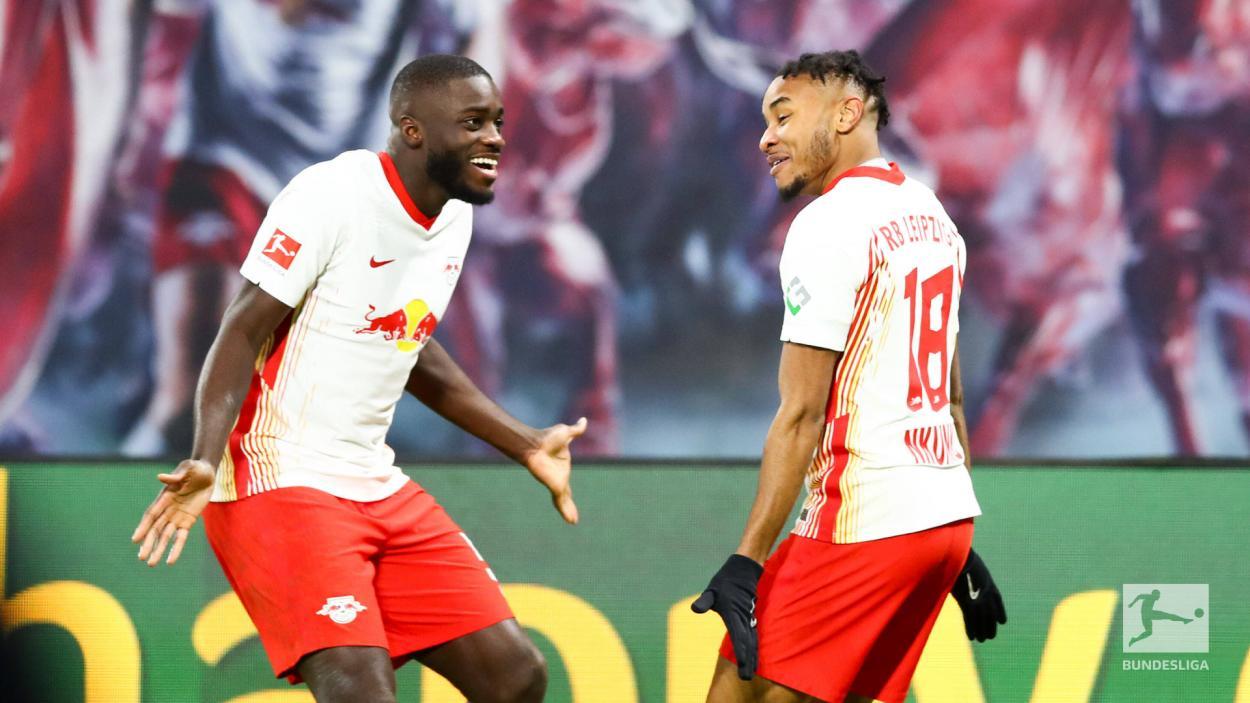 Nkunku, goleador del encuentro. / Twitter: Die Roten Bullen oficial