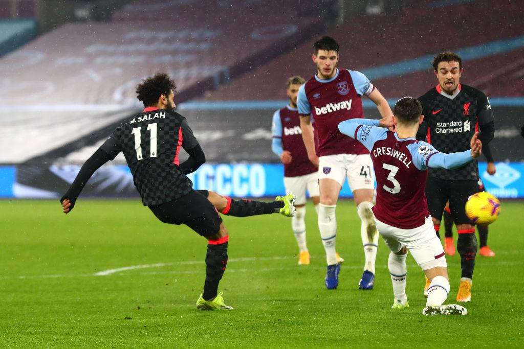 Salah anotando el 0-1 / FOTO: Premier League