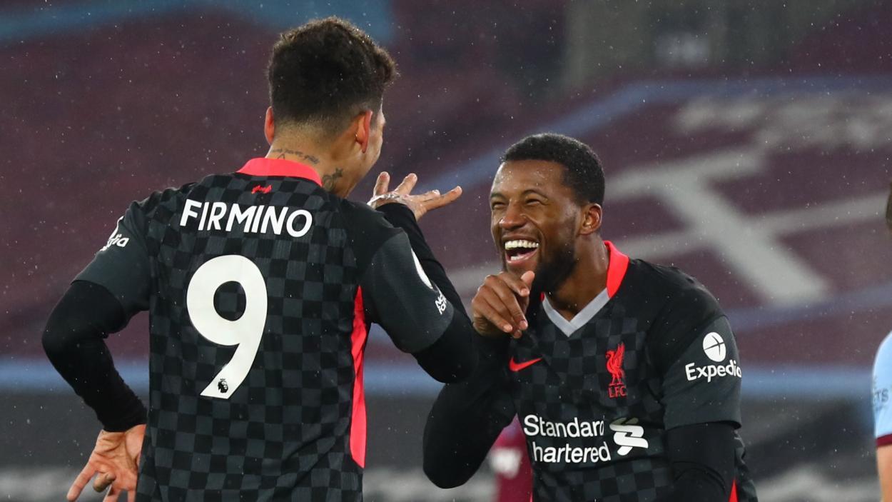Bobby y Wijnaldum celebrando el 0-3 / FOTO: Liverpool FC